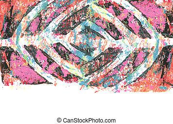arrière-plan., résumé, toile, couleur, template., texture, acrylique, aquarelle, monoprinting, painting.