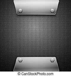 arrière-plan., résumé, vecteur, métal, illustration.