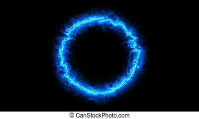 arrière-plan., radiant, circle., cinematic