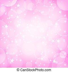 arrière-plan rose, étoiles, briller