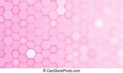 arrière-plan rose, boucle, brouiller mouvement, hexagone