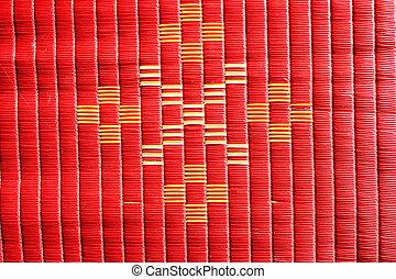 arrière-plan rouge, texture, natte
