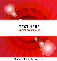 arrière-plan rouge, vecteur, résumé