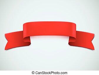 arrière-plan., ruban blanc, rouges, réaliste