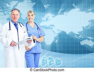 arrière-plan., services médicaux