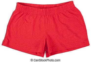 arrière-plan., shorts., blanc, sport, isolé