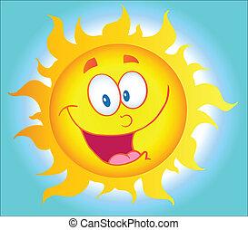 arrière-plan soleil, heureux