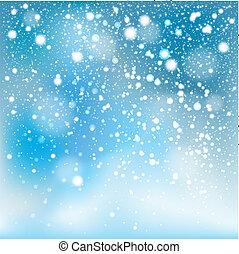 arrière-plan., tomber, hiver, neige