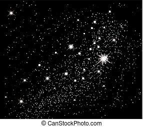 arrière-plan., vecteur, étoiles, sky.
