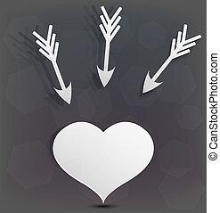 arrière-plan., vecteur, amour, eps10, créatif