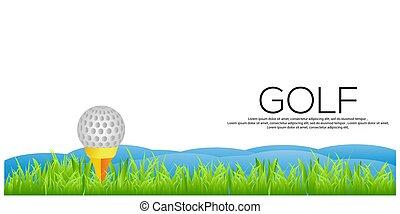 arrière-plan., vecteur, bannière, golf, stockage
