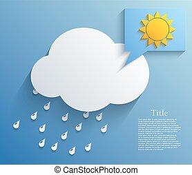 arrière-plan., vecteur, eps10, nuage
