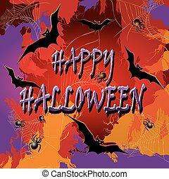 arrière-plan., vecteur, halloween, illustration.