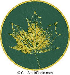 arrière-plan., vecteur, leaf., autumn.