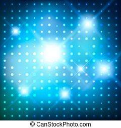 arrière-plan., vecteur, lights., disco