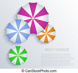 arrière-plan., vecteur, parapluie, eps10, créatif