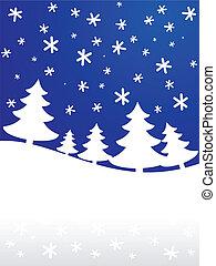 arrière-plan., [vector], hiver
