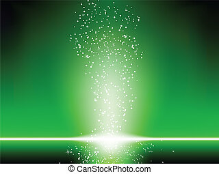 arrière-plan., vert, étoiles