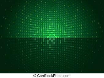 arrière-plan vert, disco