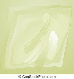 arrière-plan vert, tableau aquarelle