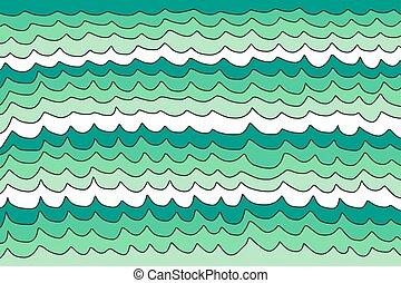 arrière-plan vert, vagues
