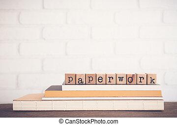 arrière-plan., vide, paperasserie, mot, espace