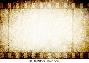 arrière-plan., vieux, classique, filmstrip., vendange