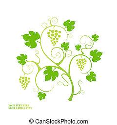 arrière-plan., vigne, raisin