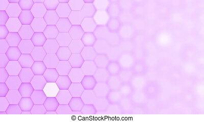 arrière-plan violet, boucle, brouiller mouvement, hexagone