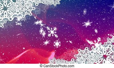 arrière-plan violet, neige, tomber