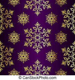 arrière-plan violet, seamless, or, noël