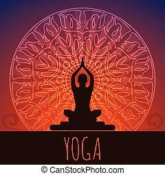 arrière-plan., yoga