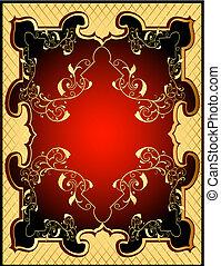 arrière-plans, modèle, gold(en), filet, jaune, cadre, rouges