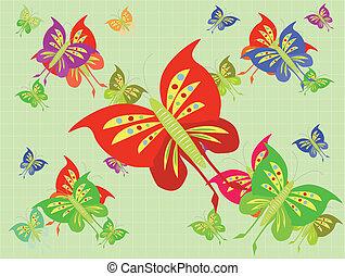 arrière-plans, papillons