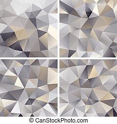 arrière-plans, résumé, ensemble, triangle