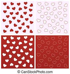 arrière-plans, seamless, valentin