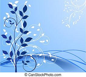 arrière-plans, vecteur, floral, résumé