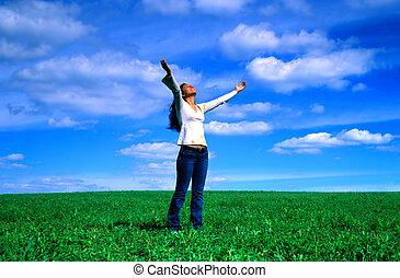 arriba, a, el, sky!