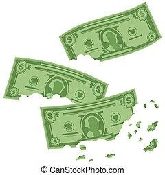 arriba, comida, ganancias, bosquejo