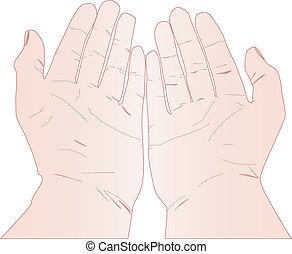 arriba, manos