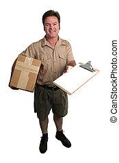 arrivé, paquet