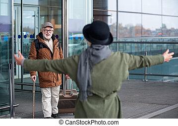 arrivée, secteur, couple, autre, chaque, vieilli, réunion, heureux
