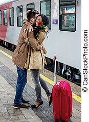 arrival by train - parr on arrival or verabschiedeung on a...