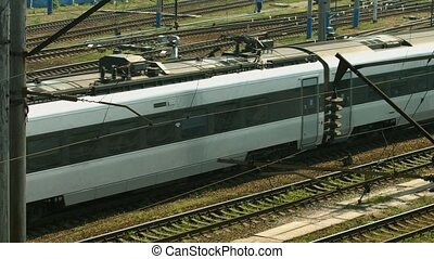 Arrival of high-speed train. - Arrival of high-speed train...