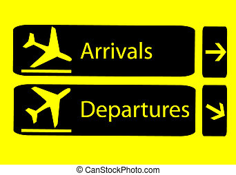 Arrivals and departures - Signs of arrivals and departures...