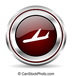 arrivals icon chrome border round web button silver metallic pushbutton