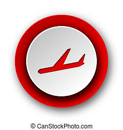 arrivals red modern web icon on white background