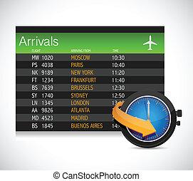 arrivals table illustration design