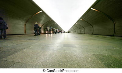 arrive, gens, il, part1, train, métro, entrer, station