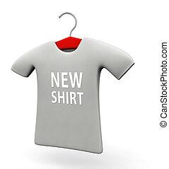 arrivo, nuovo, concetto, illustrazione, t-shirt